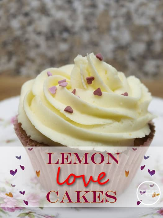 If you love Lemon Drizzle Cake, you;ll love these Lemon Love Cakes, dress them up with sprinkles for Valentines #valentines