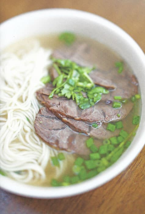 Fresh Noodles with Beef and Coriander from China Towns