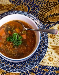 How to make Spicy Moroccan Kale and Rice Soup