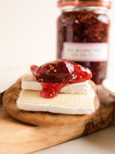 How to make Fig & Lime Jam served with cheese and crackers