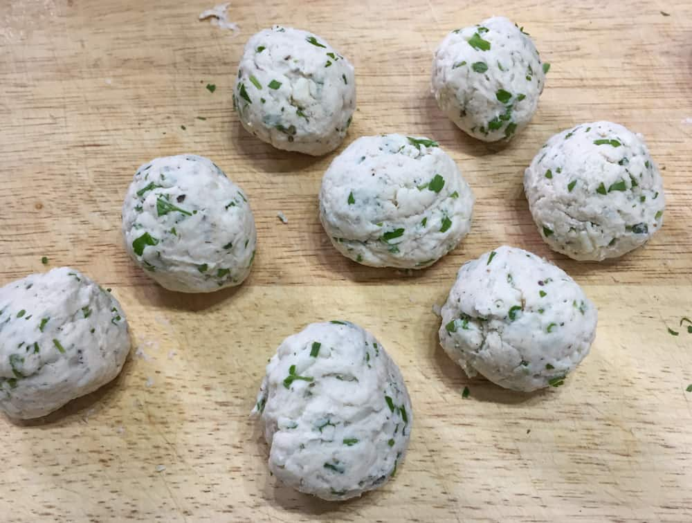 uncooked Dumplings for the Best Crockpot Beef Stew with dumplings
